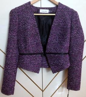 Calvin Klein Jacket, Tweed Zipper Blazer