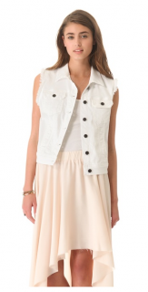 Adriano Goldschmied White Denim Vest