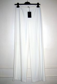 LES COPAINS Elegant White Stretch Flowing Pants Size 4US Made In Italy Size 40IT