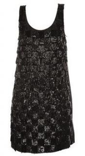Erin Fetherston black sequin mini dress