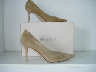 Jimmy Choo Agnes Nude Suede shoes