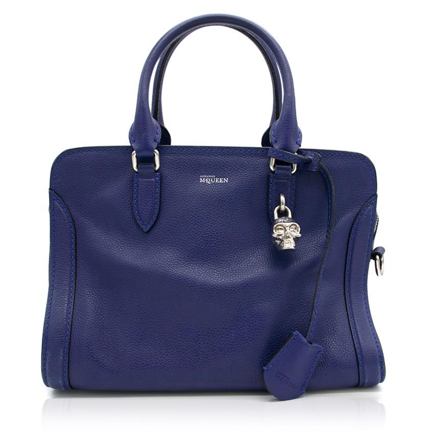 Alexander McQueen Blue Skull Padlock Bag