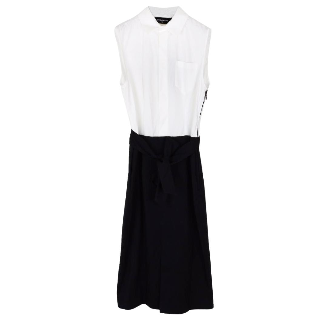 Dsquared2 black and white sleeveless dress