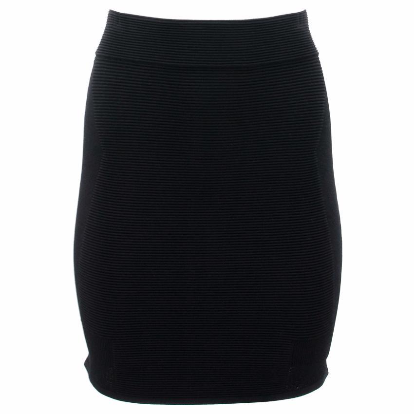 Parker Black Ribbed Skirt