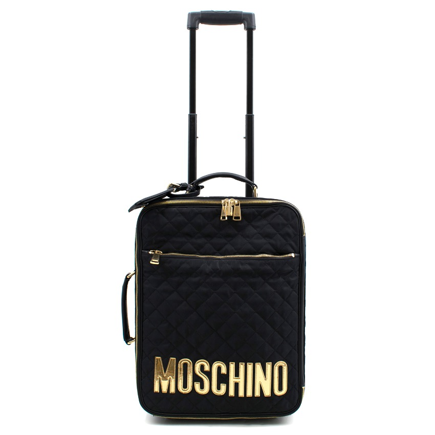 e50ae2fb459 Moschino Black Quilted Trolley | HEWI London