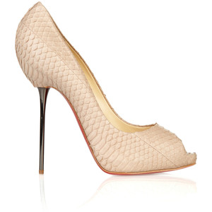 new style 385eb 458d4 Christian Louboutin 120 Snakeskin Pumps