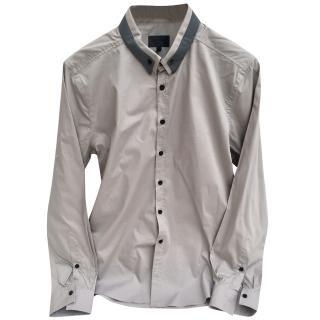 Les Hommes cotton light grey shirt