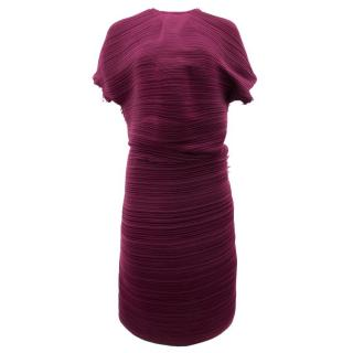 Lanvin Fuchsia Pleat Shift Dress