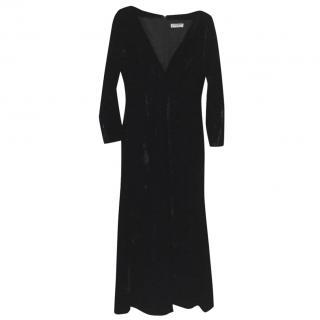 Yves st Laurent rive gauche vintage black velvet evening dress