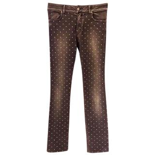 Blumarine Crystal skinny jeans
