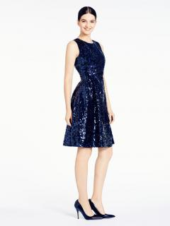 Kate Spade Navy Sequin Dress New