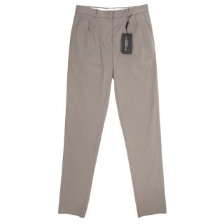 Burberry Prorsum Cotton Straight Leg Trousers