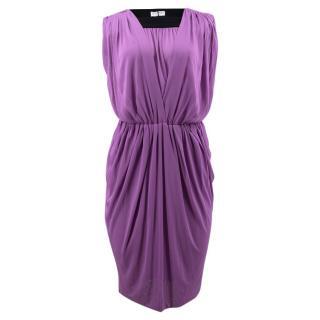 Vionnet Purple Yava Silk Dress