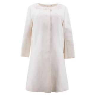 Matthew Williamson Cream Daisy Embroidered Coat