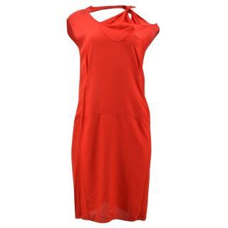 Marni Red Cut Out Dress