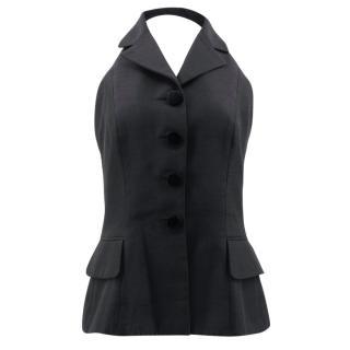 Christian Dior Black Silk Waistcoat