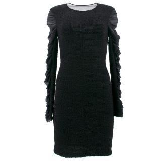 Alexander Wang Black Ruffled Silk Dress