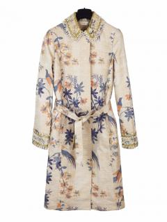 Tory Burch embellished floral long coat