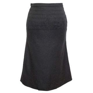 Chloe Grey Wool Midi Skirt
