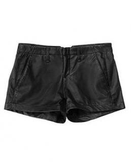 Rag And Bone Black Leather shorts