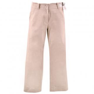 Maison Margiela Pink Thick Cotton Side Tie Trousers