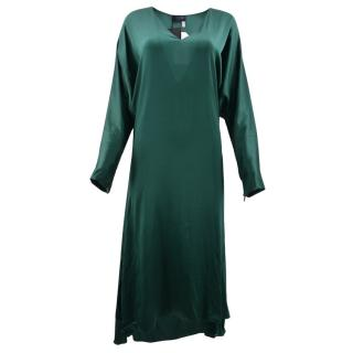 Lanvin Green Long Sleeve Dress