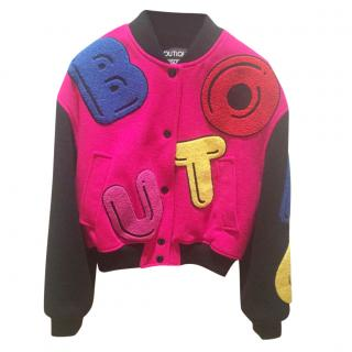 Moschino Patch Bomber Jacket