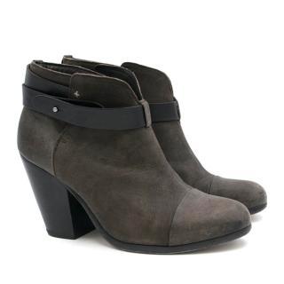 Rag & Bone Brown Harrow Leather Ankle Boots
