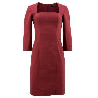 The Row Plum Gammner Dress