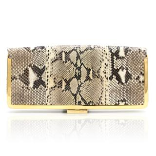 Michael Kors Gold Snakeskin Clutch