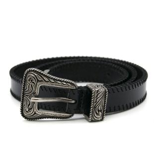 Saint Laurent Western Style Leather Belt