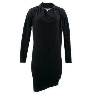 Helmut Lang Black Wool Dress