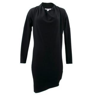 Helmut Lang Black Wool Dress