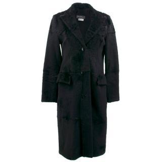 Salvatore Ferragamo Black Lapin Coat