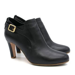 Rupert Sanderson Black Buckle Leather Boots