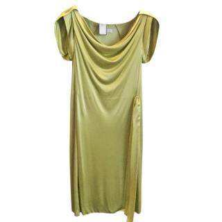 Celine green satin dress
