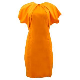 Acne Sweety Fluid Orange Dress