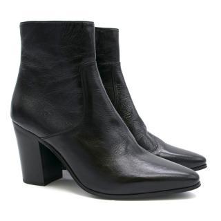 Saint Laurent Classic Black Leather Ankle Boots