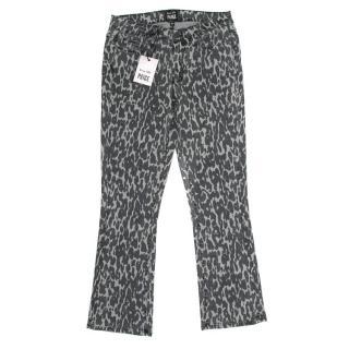 Paige x Rosie HW Poppy Leopard Grey Jeans