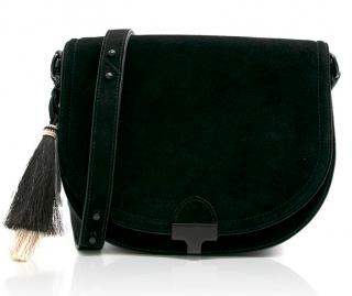 Loeffler Randall Black Tassled Saddle Crossbody Bag