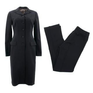 Dolce & Gabbana Black Coat and Trousers Set