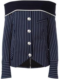 Balmain off the shoulder blazer top shirt