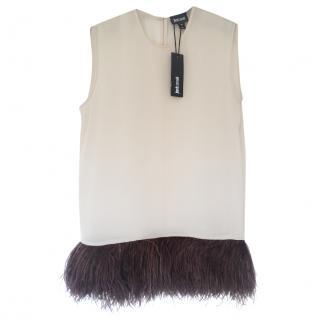 Just Cavalli Marabou feather trim top