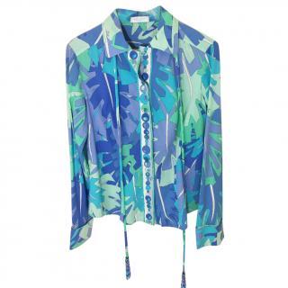 Emilio Pucci Cotton Leaf Print Shirt