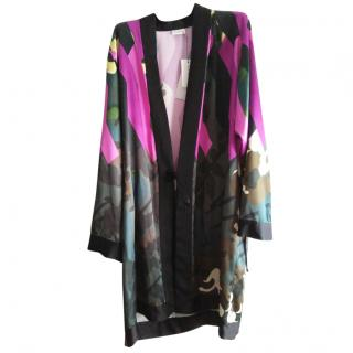 Dries Van Noten printed satin robe