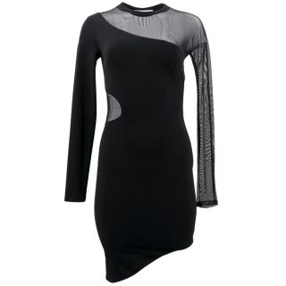 Elizabeth and James Black Bodycon Mesh Dress