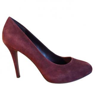 ASH burgundy suede pump