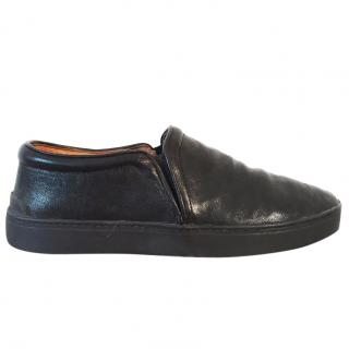 RAG & BONE Kent black nubuck leather slip on low top sneakers