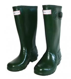 HUNTER Wellington Kids Green boots size 32