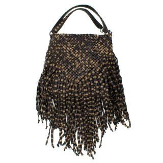 Bottega Veneta Brown Leather Fringe Bag